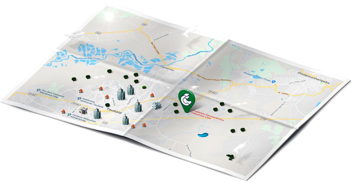 A Caldsteel está localizada há 500 metros da Dutra na cidade de Taubaté/SP